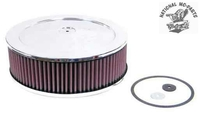 """11"""" X 4 1/8"""" K & N Chrome Air Cleaner With Element."""