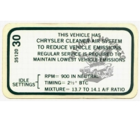 #3412030 Emissions Decal-Repro