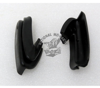 70-72 Challenger Front Bumper End Rubber Fillers, Pair-Repro